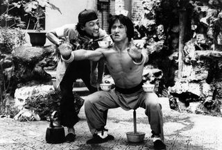 Jackie Chan in Drunken Master. Image courtesy of Photofest.