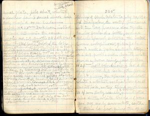 [Typical Blue Book Page], [08_15_2012], by [Blair Bailey], [NMNH], [Acc. 12-477], [Book 5 pg 225].