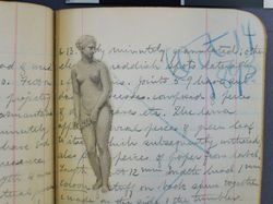[Female Nude Cutout Insert], [8_5_2012], by [Kirsten Tyree], [NMNH], [Acc.12-477], [Book 22].