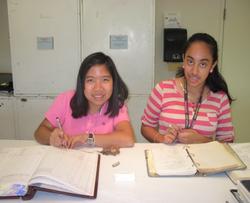 Cataloging ready specimens. Image courtesy of Tho Tran.
