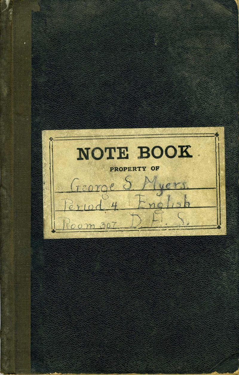 George S Myers Notebook 2 181