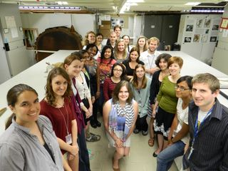 The 2012 summer interns hosted by the Department of Botany