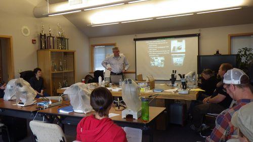 Bob Hershler Lecturing at Workshop for BLM and USFS Biologists