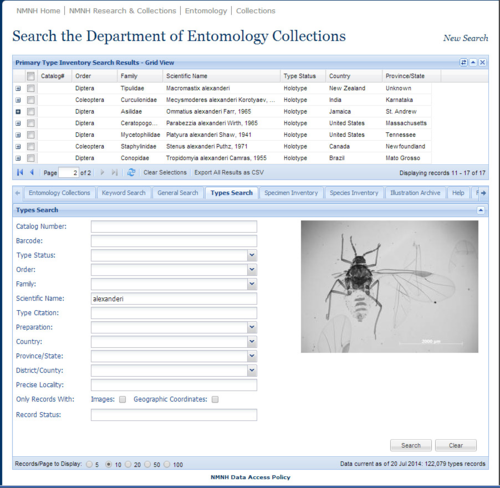 Collections results