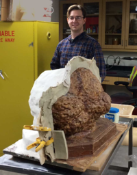 Matthew Miller with the mold and one half of the mother mold.