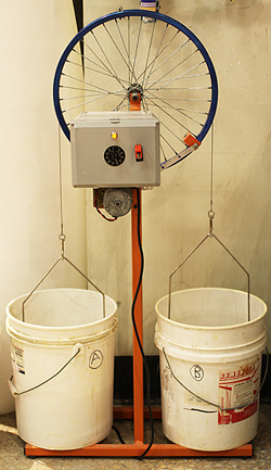 Sieve-washing-setup