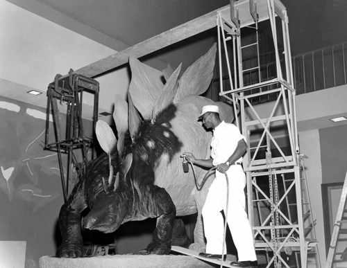 Alfred Pearson painting model Stegosaurus pre 1963