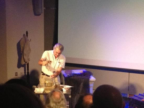 Dave Pawson with Clark's specimens