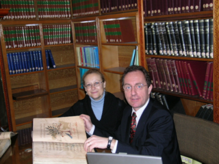 Emanuela Appetiti and Alain Touwaide conduct research at the Suleymanie Library in Istanbul