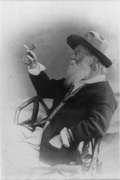 National Portrait Gallery tweeted a photograph of Walt Whitman holding a butterfly