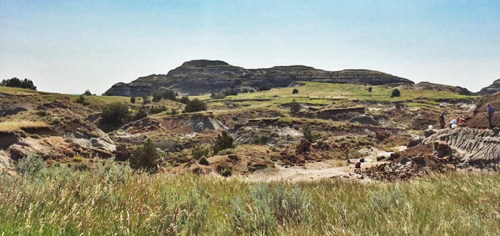 Montana badlands fossil site