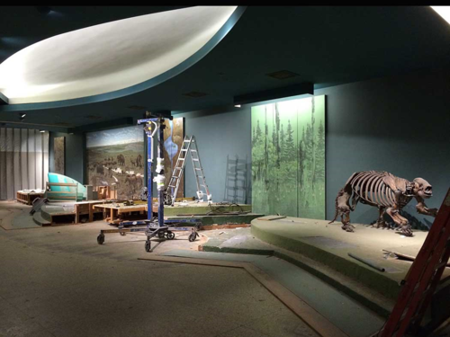 The Ice Ages hall is now nearly empty.