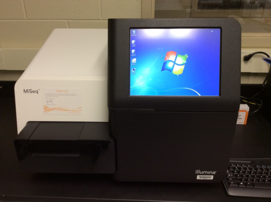 NMNH's new Illumina MiSeq capable of producting many gigabases of sequence data.
