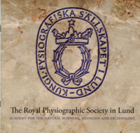 The Society's seal is embellished with a laurel wreath, the symbol of victory and learning, and above it a crown which indicates the royal status of the society. Also found are symbols of Nature's three kingdoms: the animal kingdom (the lion), the plant kingdom (the tree), and that of the minerals (the mountain). The front of the crown has Aesculapius' snake and stave, the symbol of the medical sciences and above all these shines the Polar Star, bright symbol of learning and genius. (copied from the Society' promotional literature)
