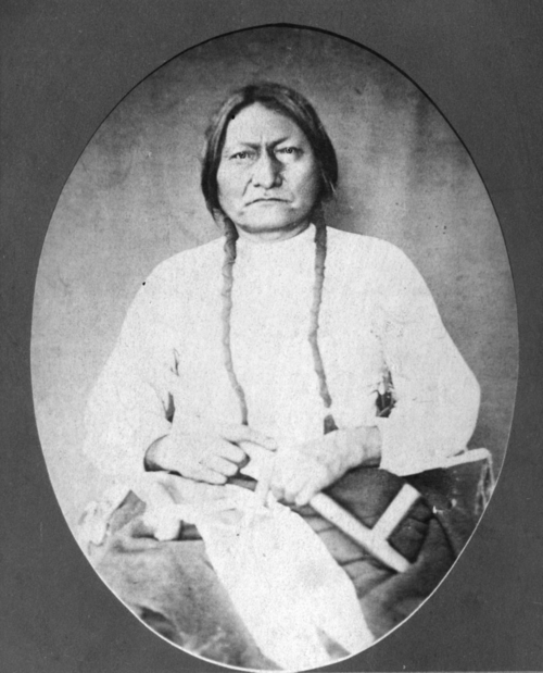 Seated portrait of Sitting Bull