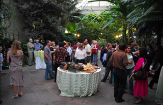 Opening reception of the ninth annual Smithsonian Botanical Symposium at the United States Botanic Garden. (Photo by Ken Wurdack)