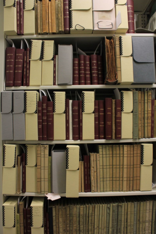 Department of Botany field books in their new home at NMNH Main Library.
