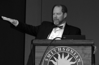 """Clem Hamilton spoke on """"Urban Eco-for-ticulture in Modern Society"""" at the Smithsonian Botanical Symposium. (Photo by Elaine Haug)"""