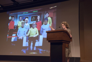 Kathleen Pryer, Duke University, and her view of the next generation of pteridologists. (photo by Ken Wurdack)