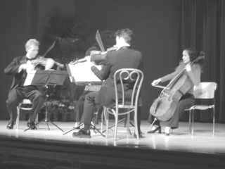 The Coolidge Quartet performing for the participants of the Smithsonian Botanical Symposium. (Photo by Deborah Bell)