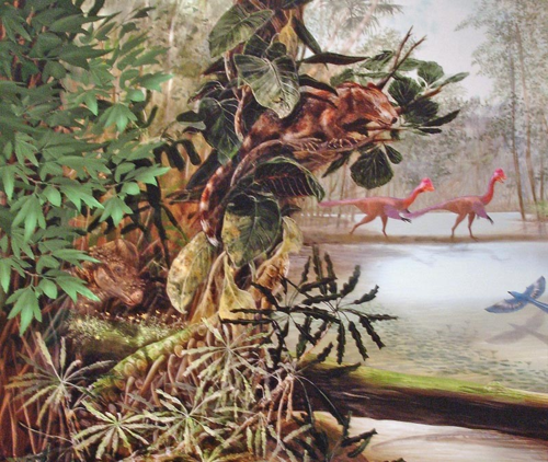 Mary Parish detail from Last American Dinosaur mural