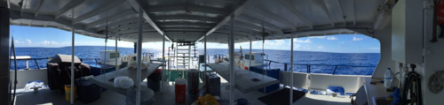 Image of ocean from bow of ship