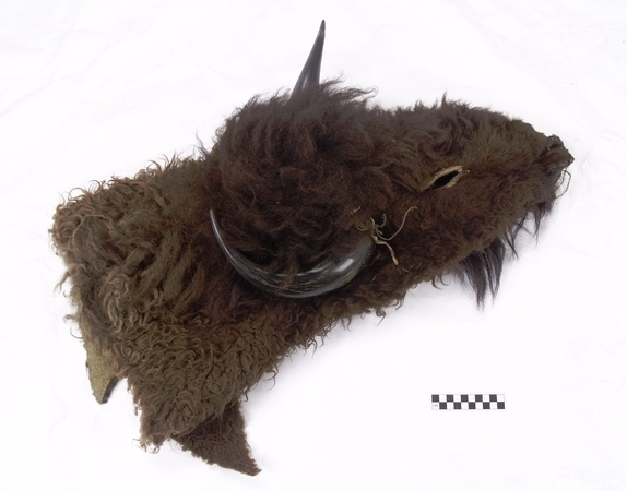 Caption: Buffalo headdress. Sioux. Ca. 1870. Collection history unknown. National Museum of the American Indian