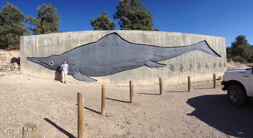 Shonisaurus mural
