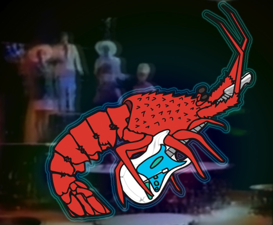 The B-52s featuring a rock lobster. (Credit: Maria Robles Gonzalez)