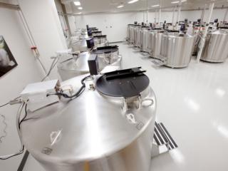 Liquid nitrogen storage tanks in the Smithsonian's Biorepository (credit: Don Hurlbert)