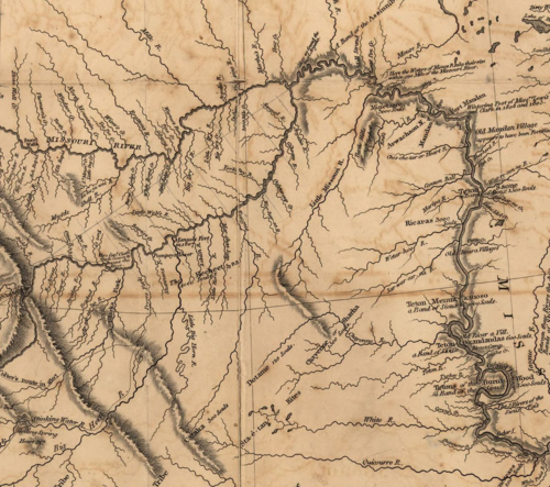 Portion of Lewis and Clark map