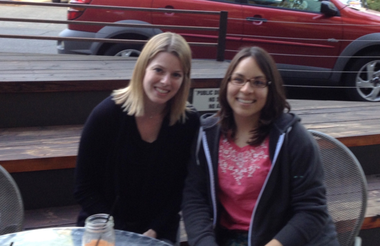Maria Robles Gonzalez, our blog intern, and I finally have a chance to say hello in person!