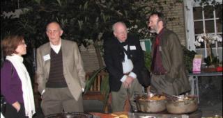 Friday night's opening reception at the U.S. Botanic Garden (Photo by Elaine Haug)