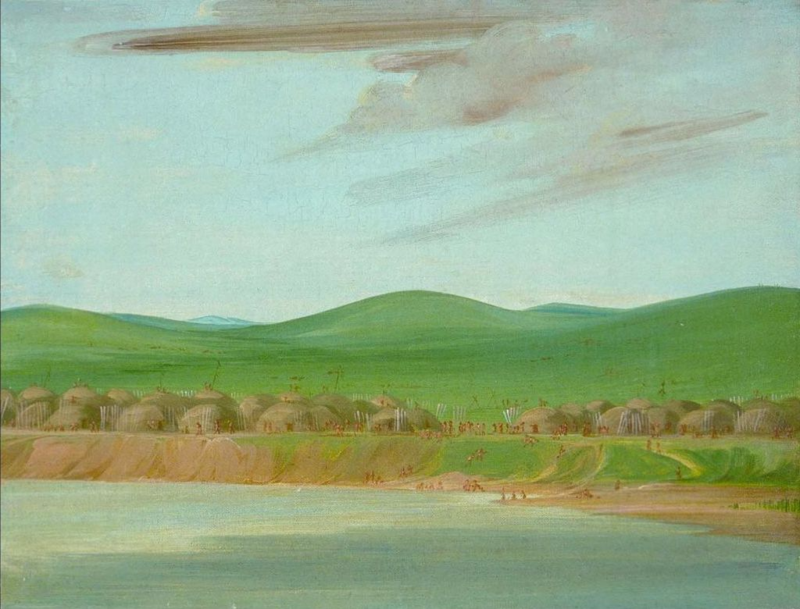 George Catlin painting of the Grand River villages