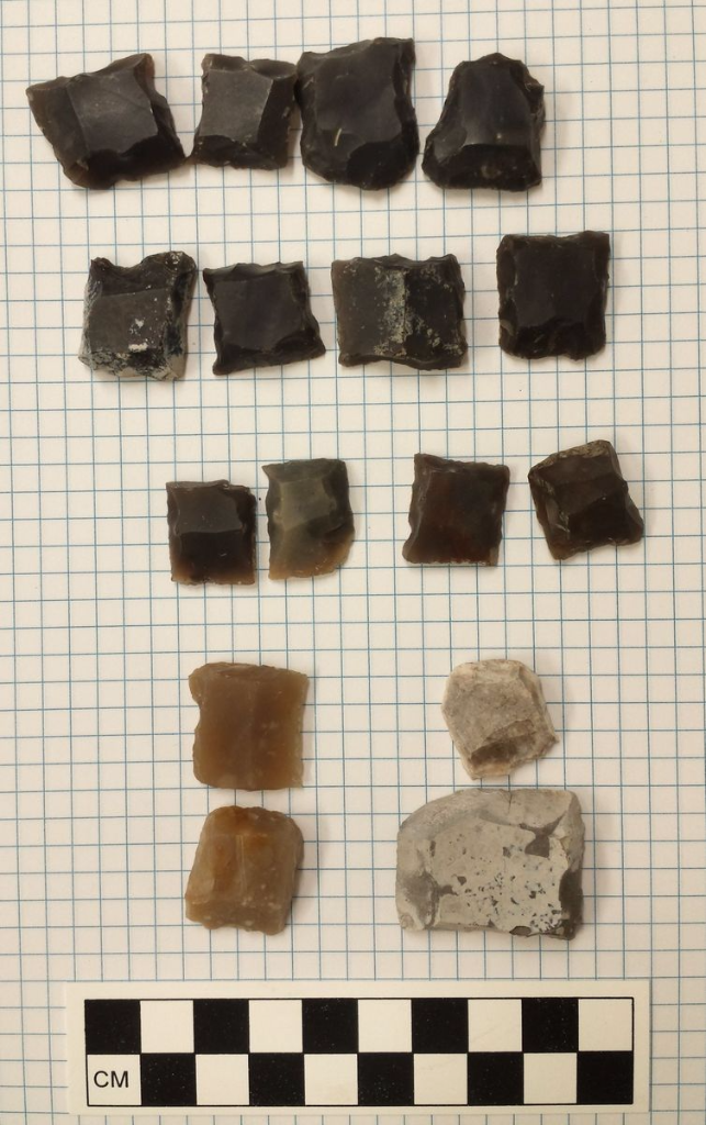Gunflints from archaeological site 39ST202