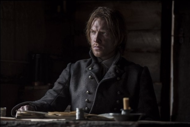 GleesoFigure 1: Domhnall Gleeson as Andrew Henry, inside the movie's version of Fort Kiowa. Image Source: Kimberley French / Twentieth Century Fox.n