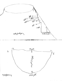 Hagerman Quarry diagram after the removal of the overburden