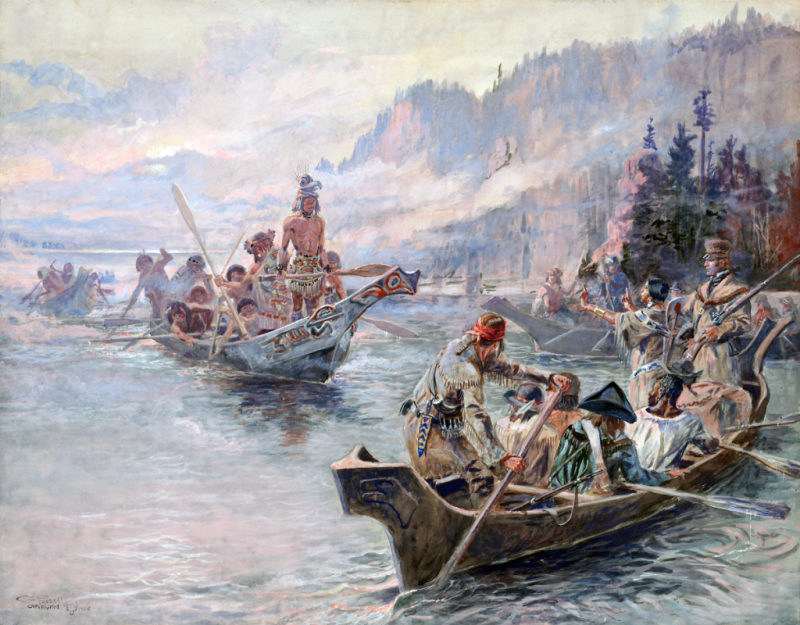 Charles M. Russell: Lewis and Clark on the Lower Columbia