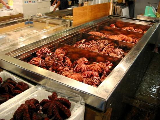 1. Octopus in fish market