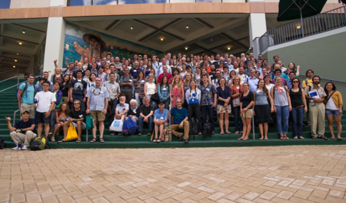 Attendees of the Island Biology 2014 meeting, held at the University of Hawaii at Manoa, Hawaii