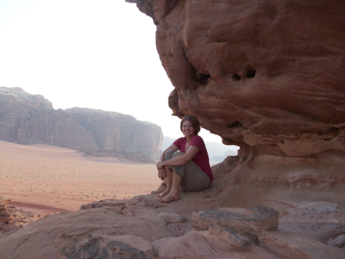 Wadi Rum canyon photo