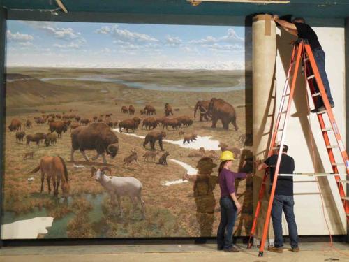 Rolling up the tundra mural 2