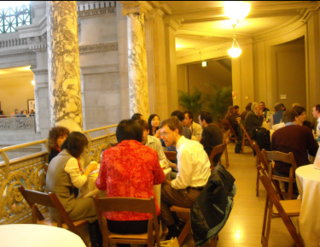 Participants of the Symposium enjoy lunch above the Rotunda of the Museum (photo by Elaine Haug)