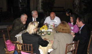 Participants of the symposium enjoy dinner in the Rotunda of the Museum (Photo by Elaine Haig).