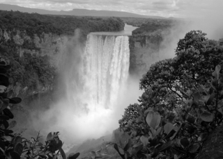 Kaieteur Falls, Guyana, in the Guiana Shield. (Photo by Carol Kelloff).