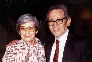 Graciela Calderon de Rzedowski and Jerzy Rzedowski, joint recipients of the Jose Cuatrecasas medal for Excellence in Tropical Botany.