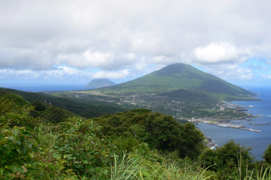 View from Noboryu Peak in Hachijo-jima Island, an island formed by two volcanoes (Photo By Hirohiro Akabane)