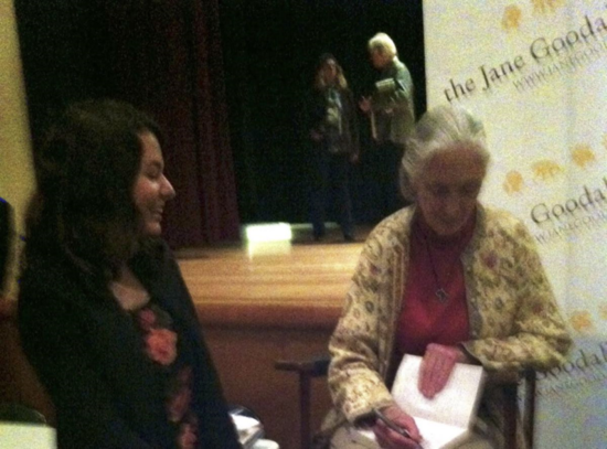 In Berkeley with another absolutely incredible primatologist - Dr. Jane Goodall! (Photo from A. Alsheikh)
