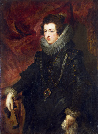 Elisabeth of France, Queen of Spain, Peter Paul Rubens, wearing the pearl La Peregrina, c.1625