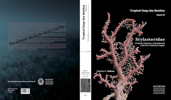 Fig. 1. Cover and back pages of recently published paper on New Caledonian stylasterids.